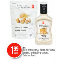 PC Croutons, Salad Dressing Or Mustard