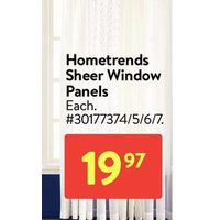 Hometrends Sheer Window Panels