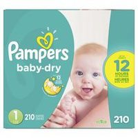Pampers, Baby-Dry, Cruisers Or Swaddlers Super Econo Diapers
