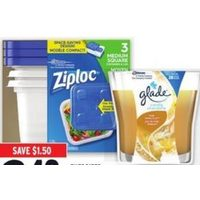 Energizer Batteries, Ziploc Containers or Glade Candles
