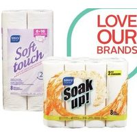 Savvy Home Bathroom Tissue or Soak Up Paper Towels