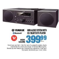 Yamaha Mini Audio System With CD/Bluetooth Player