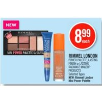 Rimmel London Power Palette, Lasting Finish Or Lasting Radiance Makeup Products, New: Rimmel London Mini Power Palette
