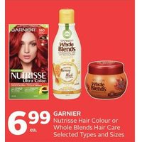 Garnier Nutrisse Hair Colour or Whole Blends Hair Care