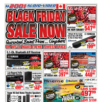 2001 Audio Video - Black Friday Sale Now Flyer