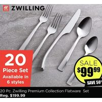 "Henck-Zwil Premium Collection Flatware ""Bellasera"" Set/20 Polished St/st"