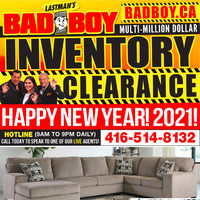 Bad Boy Furniture - Inventory Clearance Sale Flyer