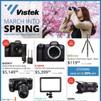 Vistek - March Into Spring Flyer