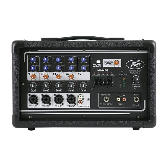 4. Most Versatile Entry-Level: Peavey 5-Channel Powered Mixer
