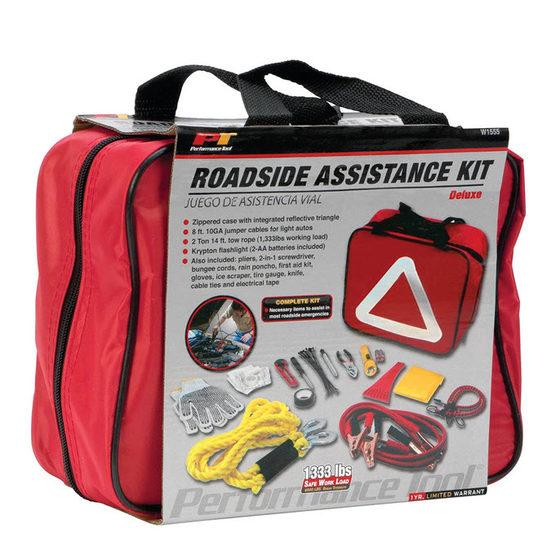 6. Best Emergency Kit: Performance Tool W1555 Deluxe Roadside Emergency Kit