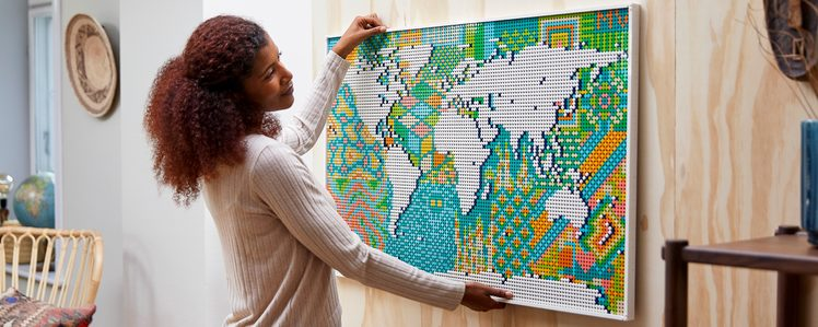 LEGO's Newest Art Set is a Giant 11,695-Piece World Map