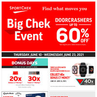 Sport Chek - Big Chek Event - Find What Moves You Flyer
