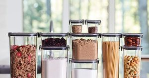 [$60.18 (regularly $73.94)] Rubbermaid Brilliance Pantry Organization & Food Storage Container Set