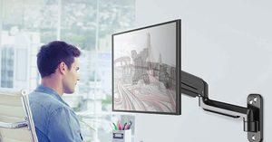 [$25.49 (plus a $10.00 coupon!)] H Huanuov Single Wall Mount Monitor Arm
