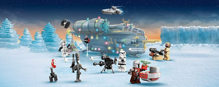 LEGO's 2021 Advent Calendars Include Grogu in a Holiday Sweater and an Infinity Stone Christmas Tree