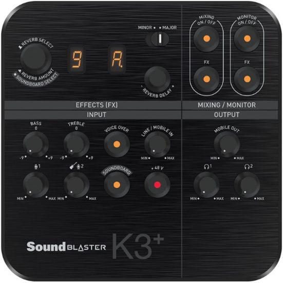 2. Runner Up: Creative Sound Blaster K3+ USB Powered 2 Channel Digital Mixer