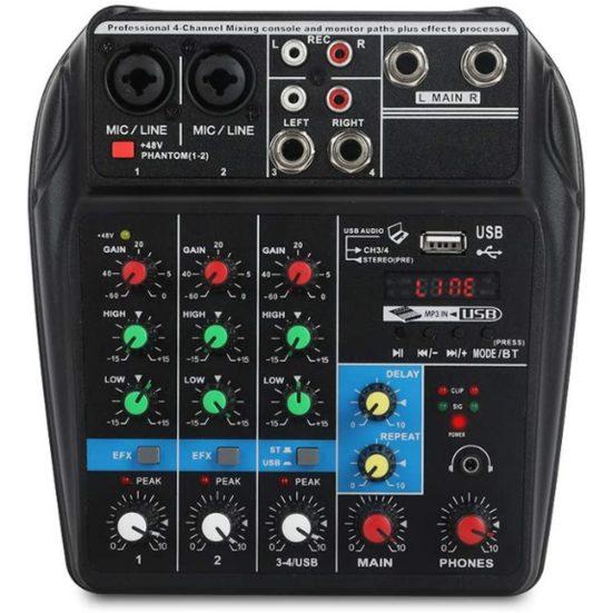 6. Best Budget Pick: Xtuga A4 Audio Mixer