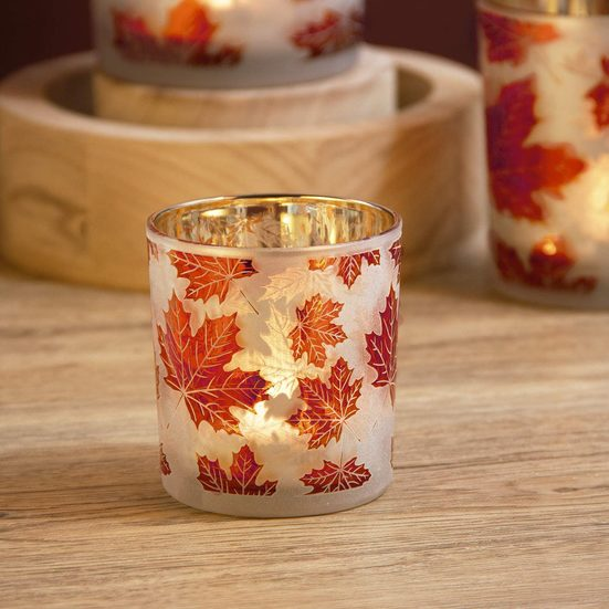 3. Best Decorative Candle Holders: Maple Leaf Candle Holders Set of 3