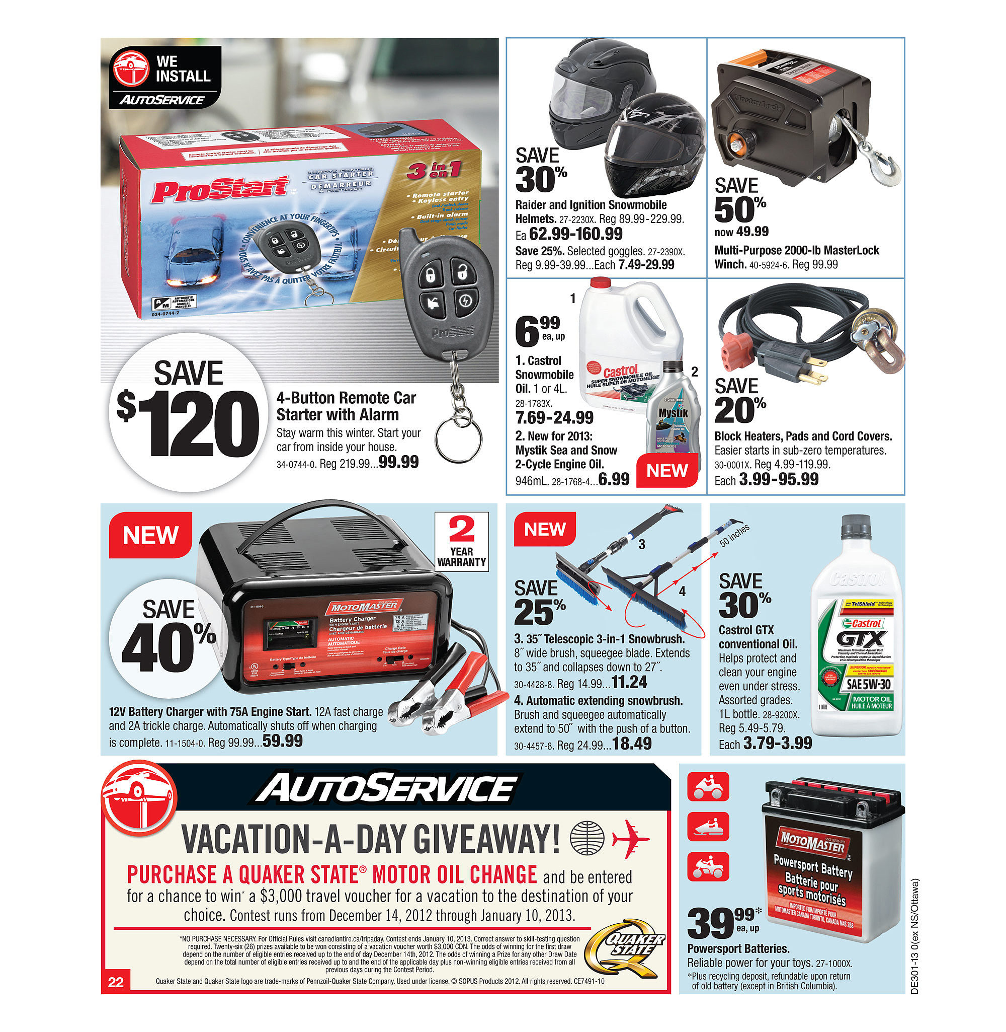 Canadian Tire Weekly Flyer Dec 27 Jan 3 Noma Baseboard Heater Wiring