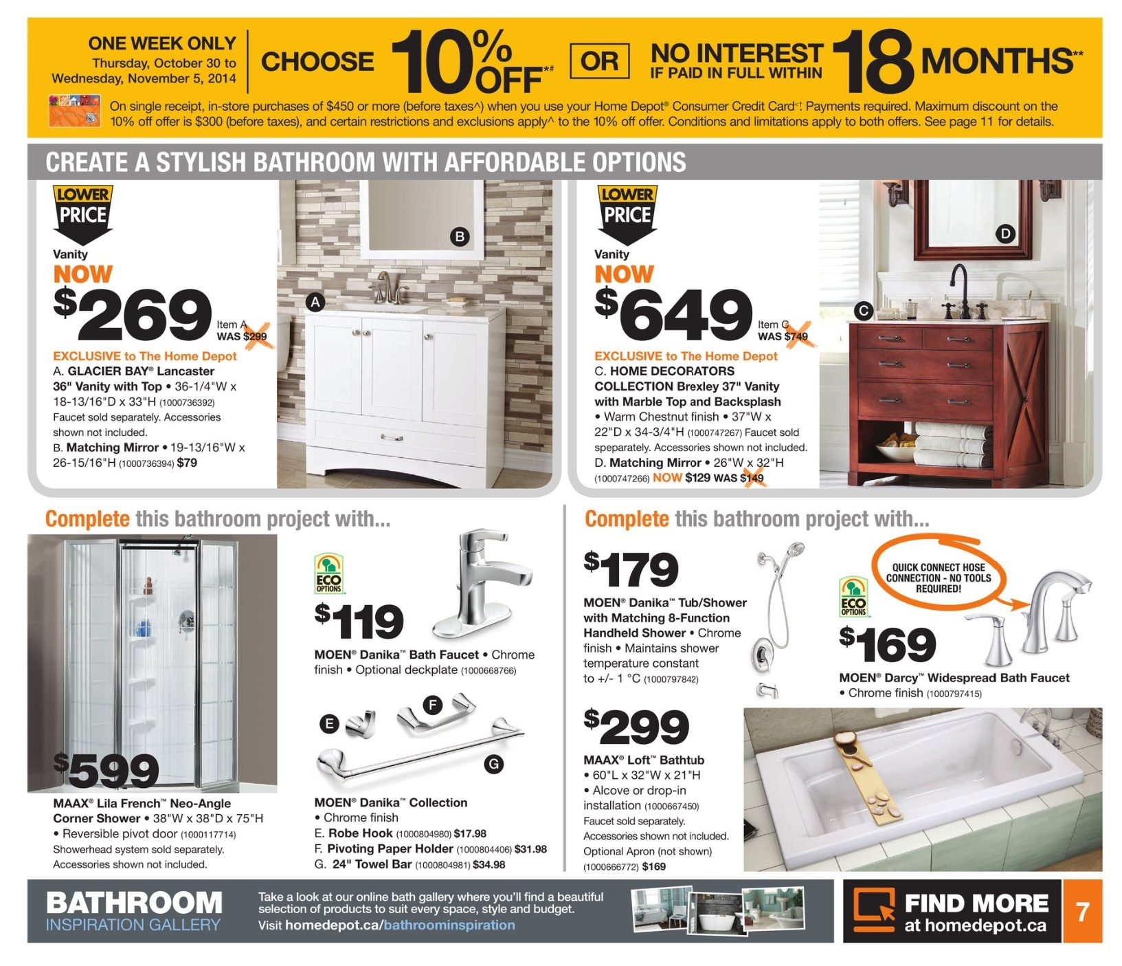 Home Depot Weekly Flyer Weekly Oct 30 – Nov 5 RedFlagDeals