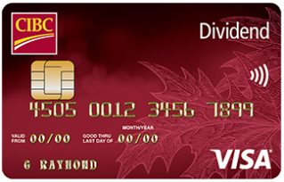 Compare best cibc credit cards in canada redflagdeals credit cards cibc dividend visa card reheart Choice Image
