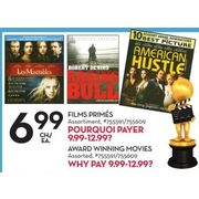 Award Winning Movies - $6.99