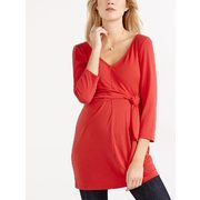 Stork & Babe - 3/4 Sleeve Knotted Maternity Top - $31.49 ($24.41 Off)