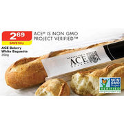 ACE Bakery White Baguette 350g - $2.69 ($0.50 off)