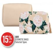 15% Off Quo Cosmetic Bags