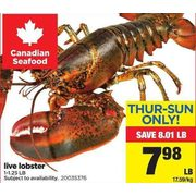 Live Lobster - $7.98/lb ($8.01 off)