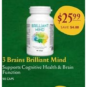 3 Brains Brilliant Mind - $25.99 ($4.00 off)