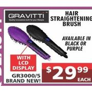 Gravitti Hair Straightening Brush - $29.99