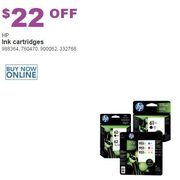 HP Ink Cartridges - $22.00 off