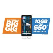 Freedom Mobile Big Gig Plans: Get 10GB of Data for $50.00/Month, 15GB of Data for $70.00/Month or 20GB of Data for $90.00/Month