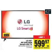 "LG 43"" 4K UHD HDR Smart LED TV  - $599.97"