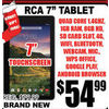 "RCA 7"" Touchscreen Tablet - $54.99"
