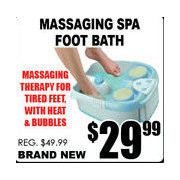 Massaging Spa Foot Bath - $29.99