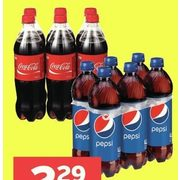 Coco-Cola or Pepsi Regular or Diet or Aquafina Water  - $2.29