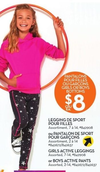 Giant Tiger: Bella & Birdie Girls Active Leggings Or Boys Active Pants -  RedFlagDeals.com