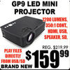 GP9 LED Mini Projector - $159.99