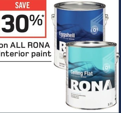 rona paint deals