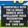 Compatible With the Lg Magic Remote With Intelligent Voice Recognition - $48.00 ($80.00 off)