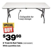 5' Fold -N-Roll Table  - $39.98