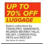 Travelpro, Samsonite, Ricardo Beverly Hills, Delsey, London Fog, Heys And Westjet Luggage - Up to 70% off