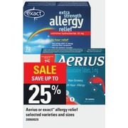 Aerius Or Exact Allergy Relief - Up to 25% off