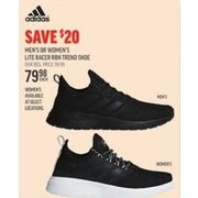 Adidas Mens Or Womens Lite Racer RBN Trend Shoe - $79.98 ($20.00 off)