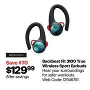 Best Buy Plantronics Backbeat Fit 3100 Ultra Stable Rugged True Wireless Earbuds Redflagdeals Com