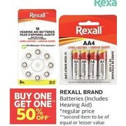 Rexall Brand Batteries  - BOGO 50% off