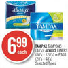 Tampax Tampons Always Liners or Pads  - $6.99