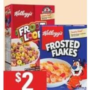 Kellogg's Cereal - $2.00